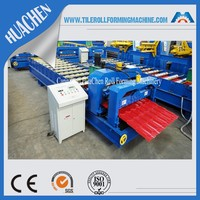 RU Glazed Roof Tile Forming Machine Manufacturing Iron Roofing Deck