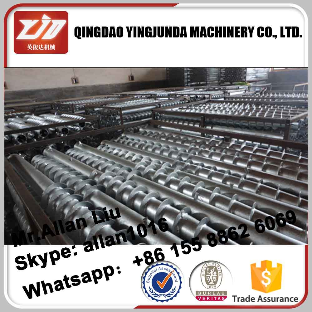 Galvanized ground screw pile for solar mounting construction