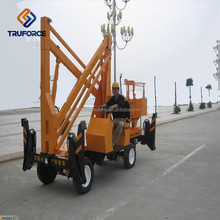 light duty 16 m diesel compact towable forklift boom lift 200kg capacity