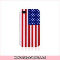 KN133 US American Flag Back Hard Case Cover for Apple for iphone 4G