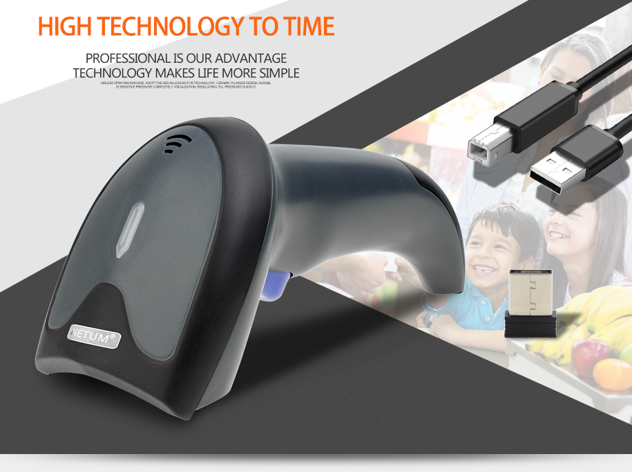NT-W6 High Quality 2.4G 1D Barcode Reader Wireless Handheld CCD Barcode Scanner for supermarket