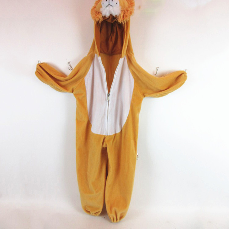 Funny soft brown plush animal lion costume for children
