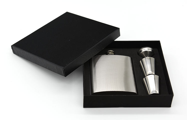 High Quality classical father's day gift set hip flasks for men