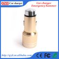 Special designed emergency hammer shaped usb car charger 2 port