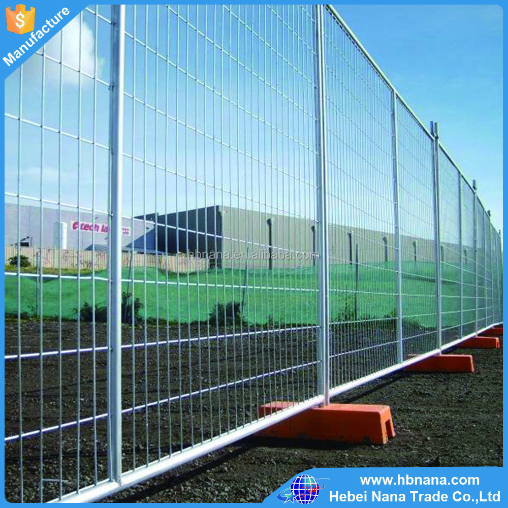 Temporary chain link portable fence panels / high quality temporary fence