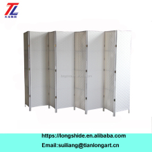 Customized White Movable Folding Commercial Room Divider Screen