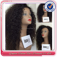 Stock fast delivery human hair full lace wig 7a cuticles silk base wig