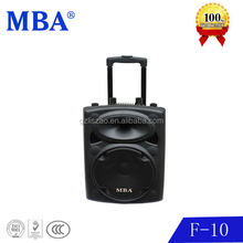 portable trolley battery rechargeable waterproof 12v speaker with usb,wireless