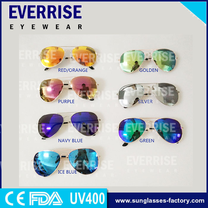 Aviator italy design CE sunglasses, metal sunglasses for supermarket 2016 free sample