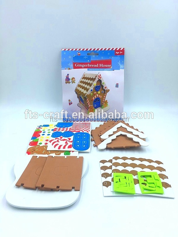 2018 Kids Christmas Gingerbread House EVA Foam Craft Kits