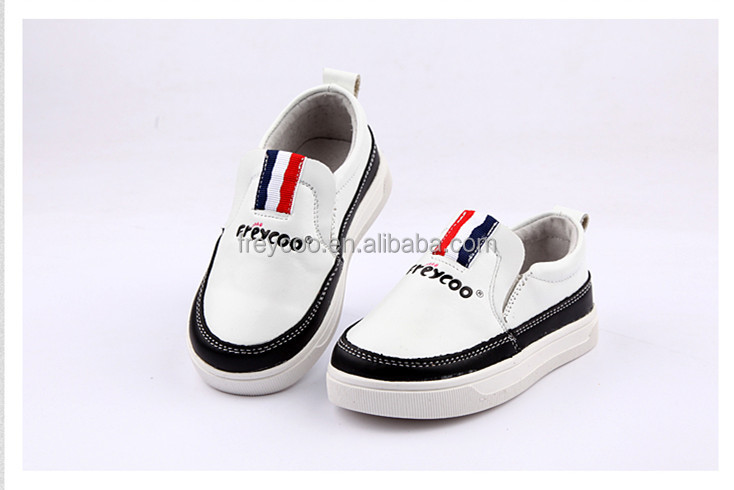 2016 new design casual kid shoes comfortable leather shoes for kids