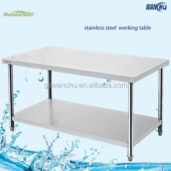 Assembly Stainless Steel Kitchen Work Table/Commercial Heavy Duty Kitchen Work Bench/Kitchen Catering Equipment Manufacturer
