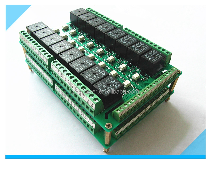 32 Channel Relay Module optocoupler PLC Driver Boards DC 24V
