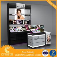Factory Direct Wholesale corner glass display cabinet display cosmetic display stands