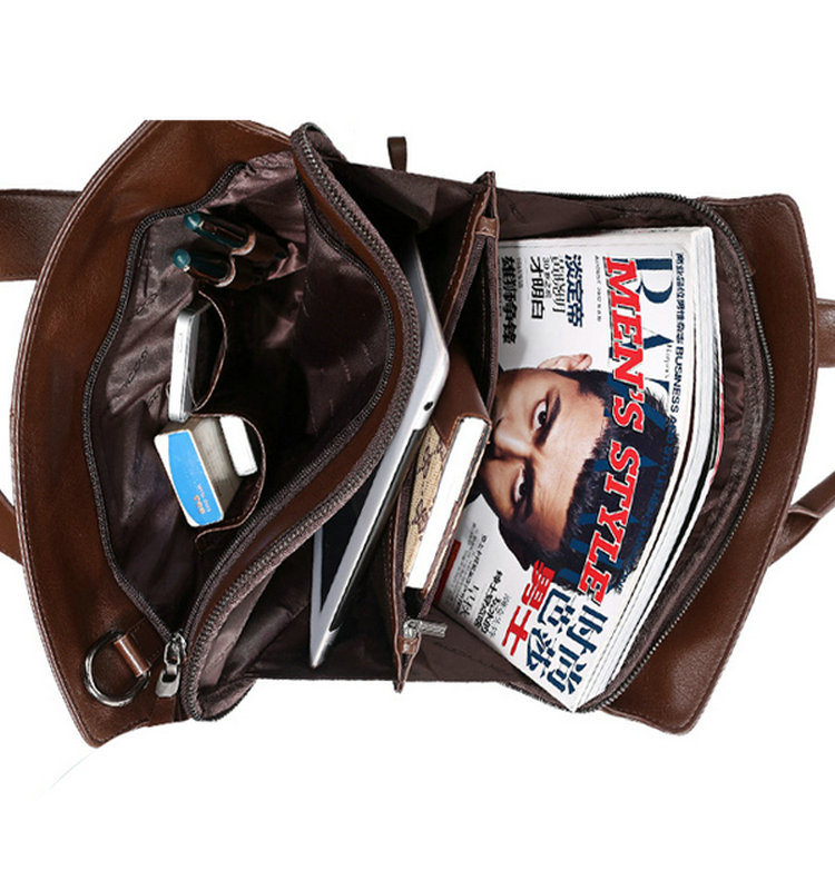 Hot sale high quality new style men leather messenger bag