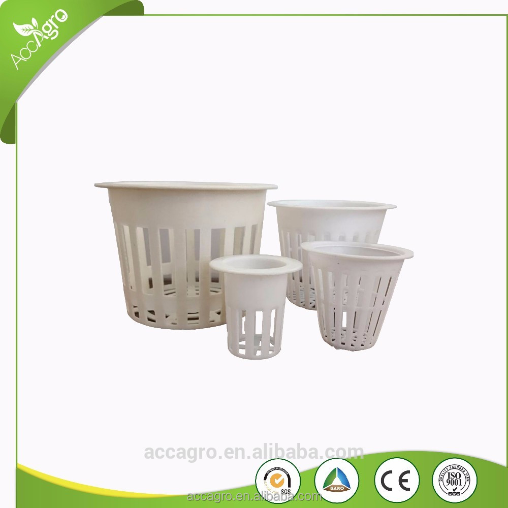 Hydroponics Mesh Net Cups Plastic Pots For Vegetables Lettuces