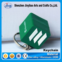 custom e-co soft pvc 3d cube shape keychain with your logo