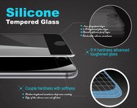 Factory price! Whole transparency 9H ultra thin narrow metal full cover tempered glass screen protector for iphone 6s 6s plus