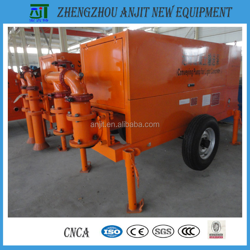 Hydraulic foam concrete slurry conveying pump