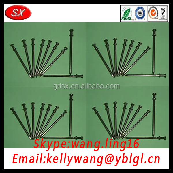 China customized cnc machining common nail, roofing nails with high quality