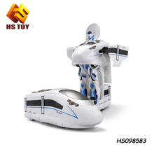 High speed train white car trans robot toy electric train sets rc toy