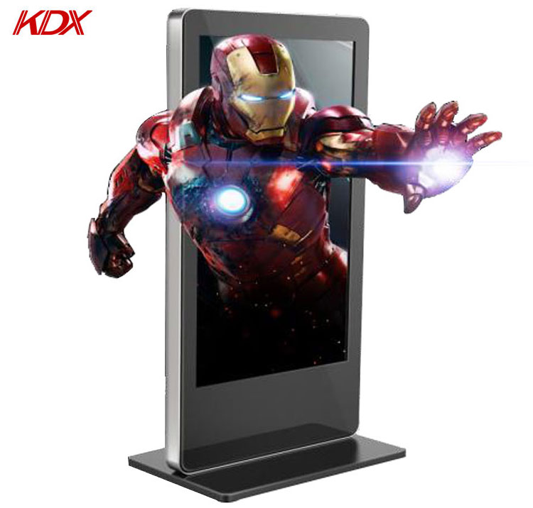 65inch Floor Stand Advertising Display Screen Glasses-free 3D Digital Signage Kiosk Media Player