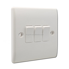 10 amp switch 3 gang 1 way switch whole white electric wall switch