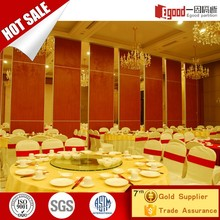 Restaurant folding wall partition commercial building foldable walls partition with door