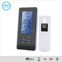 YD8211A Black Digital alarm Clock and Weather Station for Promotion