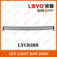 50 inch 288W Off Road Led Car Light, Curved Led Light bar 4x4,auto led light arch bent