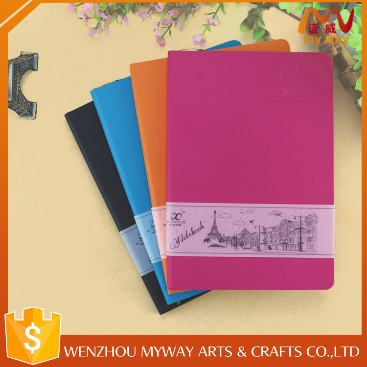 Hot selling school custom cheap exercise pu leather note book