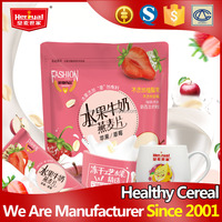 Sweet nutritious keep beauty freeze drying fruit milk oat cereal powder