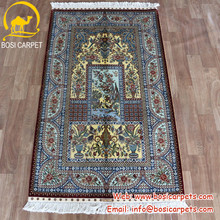 3x5ft Competitive price offer various shape persian silk carpet qum rug 100% silk