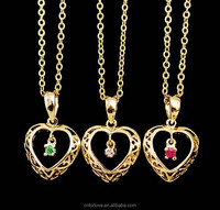 New arrival stainless steel gold plated fashion jewelry,broken heart chain necklace for friendship Q0001