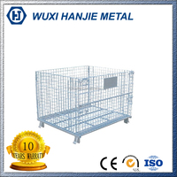 Stackable steel storage galvanized welded wire mesh cage(HJ-MC106)