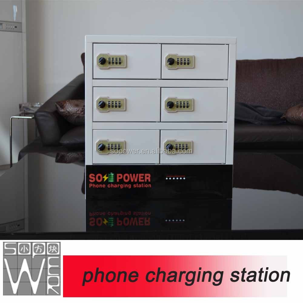 China Sopower Usb port charging <strong>cell</strong> <strong>phone</strong>/mobile <strong>phone</strong> lockers with combination code locks