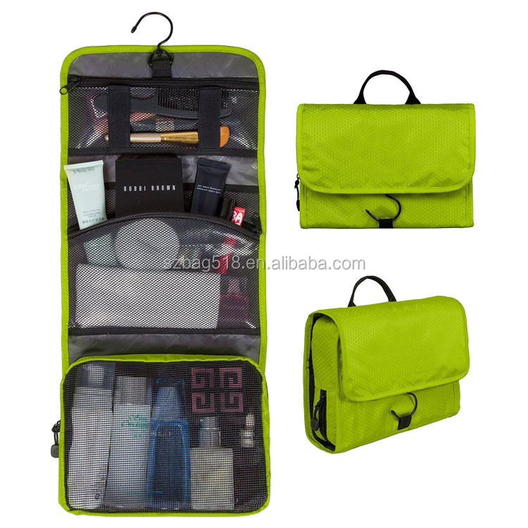 Nylon Cosmetic Make Up Case Hanging Travel Toiletry Bag