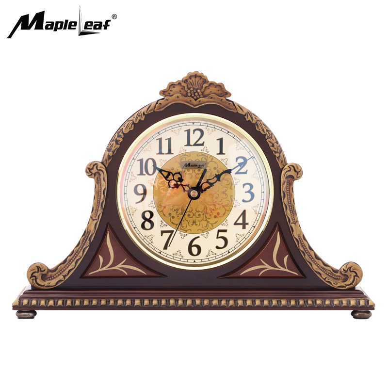 Custom Vintage Wooden Mantel Desk & Table Clock with Westminster Chime