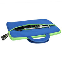 Portable Slim Neoprene Travel Carrying Sleeve Case Bag w/ Dual Handle and Accessory Pocket for13.3-14inch Laptop - Bl