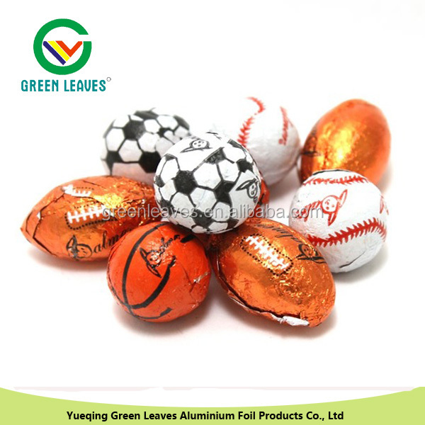 Soccer Ball Chocolates aluminum foil packing