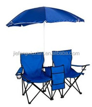 Picnic Double Folding Chair With Umbrella Table Folding Chair