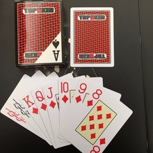 custom printed poker royal 100% plastic playing cards