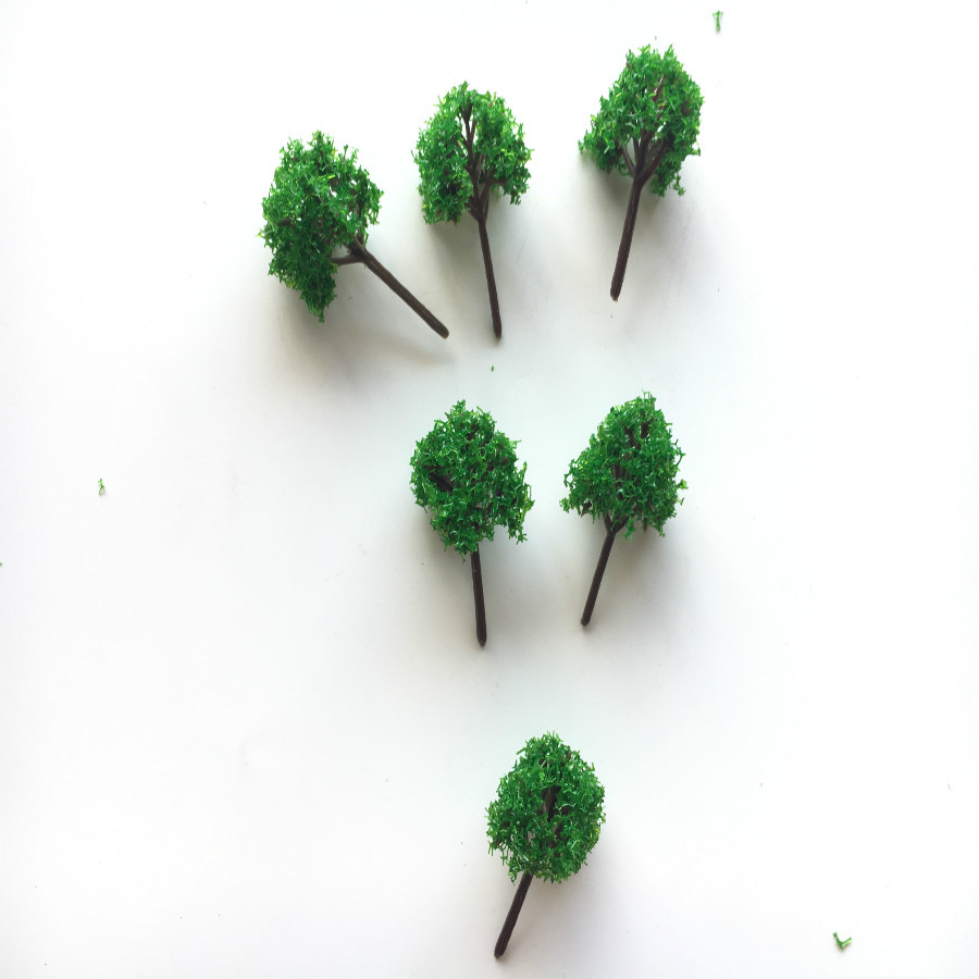 500pcs/lot architecture N <strong>Z</strong> <strong>1</strong>:1000 scale model miniature green trees in 3.5cm for ho train layout