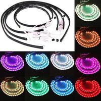 7 Color Wireless Remote RGB LED Strips under Car Neon Lights Underbody Lights Kit 36
