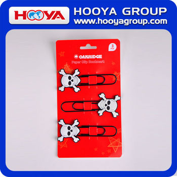 shaped fancy jumbo soft PVC promotional paper clip bookmark supplier