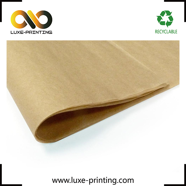 Fashionable custom printed kraft wrapping tissue paper for packaging
