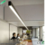 suspended dimmable chandelier tube light led linear pendant lighting for Projects