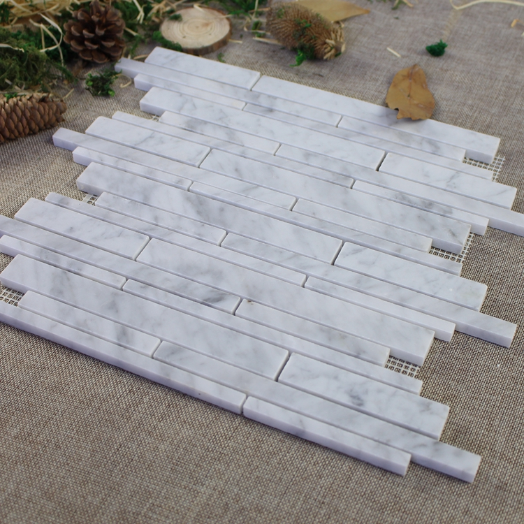 Decorstone24 China Factory Carrara White Mosaic Tile Splash Back For Kitchen