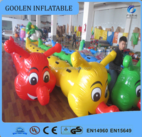 New design Hot sale funny colored inflatable Caterpillar 6 seats for sport toys