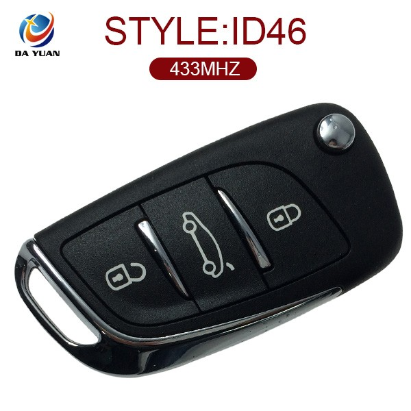 AK016017 universal car remote control 3Button 433MHZ custom key blank For Citroen DS3 ID46